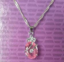 Cubic Zirconia Oval Beauty Costume Necklaces & Pendants
