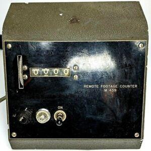 Remote Footage Counter M 439 Film Magnasync Moviola Projector Interlock Selsyn