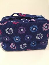 New Vera Bradley Ellie Flowers Large Blush & Brush Makeup Case Travel Organizer