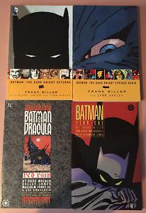 Batman Trade Paperback Graphic Novels X 4 DC Comics Batman ( Set 1 )