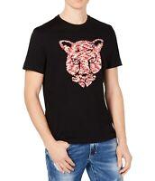 INC Men's T-Shirts Black Size XL Sequined Animal Embellished Tee $39- 215