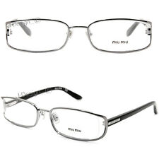 Miu Miu VMU52H 5AV-1O1 Silver 52-18-135 Eyeglasses - New Authentic