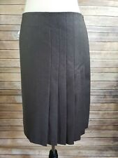 Women's AKRIS PUNTO Wool Blend Pleated Skirt Size 6