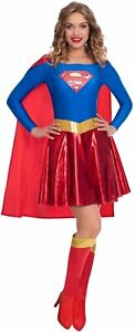 Supergirl Classic Fancy Dress Costume in Size 8-10
