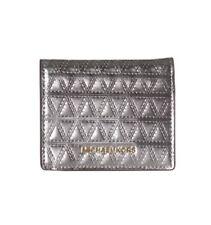 Michael Kors 32H7GF6F2K Money Pieces Leather Metallic Flap Card Holder Champagne