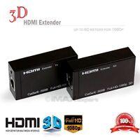 NEW HDMI/DVI Balun 196ft/60m Extender over Cat 5e/6 Ethernet Converter 1080p