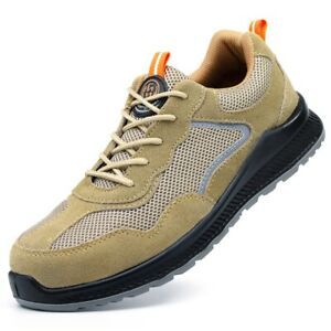 Men's Steel Toe Work Safety Sport Trainers ESD Anti Puncture Protective Shoes