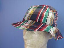Nwt Polo Ralph Lauren Plaid Bucket Hat, Multicolor Cotton , Size S/M, $45