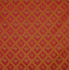 Tropical Palm Palmetto Tree Art Deco Red Green Gold Upholstery Fabric 1527-882
