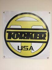 old school bmx banner 2x2 repro torker usa mancave garage shop display