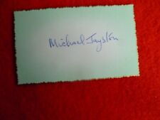 BRITISH ACTOR MICHAEL JAYSTON SIGNED CARD