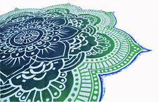 LOTUS Mandala Round Blanket Sheet Tapestry Picnic Beach Dorm Hippie Boho Throw