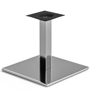 MADRID | Bistro Lounge Tisch Gestell | 45x45cm | 6x36cm | Edelstahl  | Fuß Bein