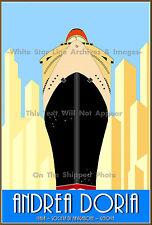 "Poster Print: Andrea Doria Poster Ad: Italian Line, Limited Edition 18"" x 24"""