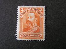 NEWFOUNDLAND, SCOTT # 81, 2c. VALUE ORANGE 1897-1901 ROYAL FAMILY ISSUE MH