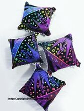 Graceful Wall Art Multi Color Star Pattern Set Of 4 PCs Cushion Cover Soft Wash