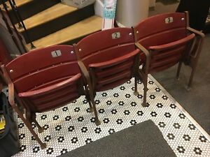 PITTSBURGH PIRATES STEELERS THREE RIVERS STADIUM 3 SEAT SECTION SEATS RED