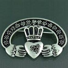Pewter Celtic Claddagh Pin/Pendant