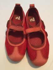 Merrell Relay Tour Mary Jane Mesh Leather Red Women's Size 6