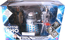 "5"" Doctor Who Enemies of the First Dr Dalek, Cyberman, Roboman Set"