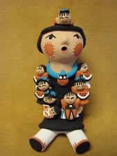Jemez Pueblo Indian Handmade Clay Storyteller by Tim Tosa