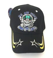 USAF Air Force Baseball Cap Own the Sky Embroidered Skull Adjusts USA Military