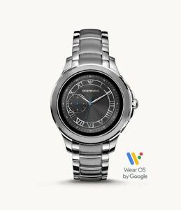 Emporio Armani Men's HR GPS Stainless Steel Touchscreen Smartwatch 43mm ART5010