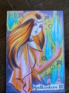 Elsa Doumtsi Sketch Card Perna Studios Spellcasters 3 Dark Forces