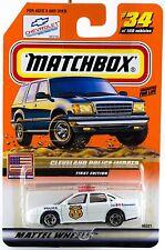 Matchbox #34 Impala Cleveland Police With MB 2000 Logo New On Card