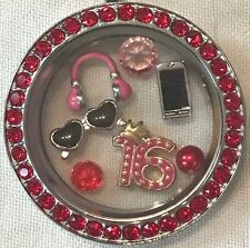 ❤️AUTHENTIC ORIGAMI OWL~ 4 CHARM SET ~ SWEET 16 ~ CELL & HEADPHONES  3 Retired❤️