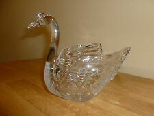 Hofbauer Lead Crystal Swan Bowl Candy Dish Centerpiece