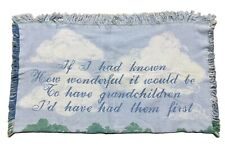 Grandmother Throw Blanket - Grandchildren Are Wonderful