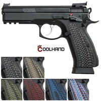 """G10 Grips for CZ 75 Full Size Snake Scale Texture 1/4"""" Thick Coolhand SP1-2"""