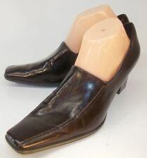 Franco Sarto Womens Heels Pumps US 10 M Brown Vegan Leather Slip-On Square Toe