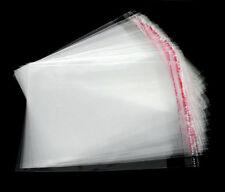 200 Sachets Sacs Pochettes Bijoux DIY Plastique Auto-Adhésif 12x9cm