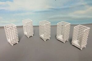 """5  Station Luggage Mail Trolleys , Postage Cages  3 D Printed   """"00"""" Gauge"""