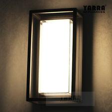 12w LED 4000k Exterior Industrial Wall Sconce Light Lamp Aluminium-black