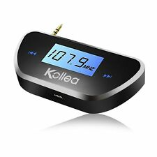 Kollea 3.5mm In-car FM Transmitter Audio Radio Adapter for All Smartphones