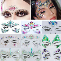 DIY Adhesive Face Acrylic Gem Jewels Festival Party Body Glitter Stickers Tattoo