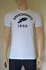 NEW Abercrombie & Fitch Cellar Mountain White Track & Field Tee T-Shirt L