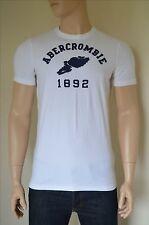 Nueva Abercrombie & Fitch bodega montaña Blanco atletismo Tee T-Shirt L
