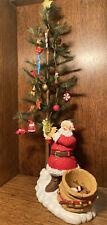 Hallmark Countdown to Christmas Advent Tree Resin Santa Christmas Tree Figurine
