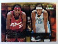 2003-04 Upper Deck Freshman Season Collection Melo v Lebron James Rookie RC #4