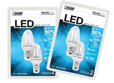 Feit Electric Accent LED White Night Light Bulb - BPC7/LED -2 packages (4 bulbs)