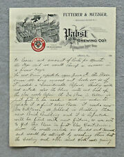 Pabst Milwaukee Lager pre-pro letter from wholesale dealer, Ottawa, Il