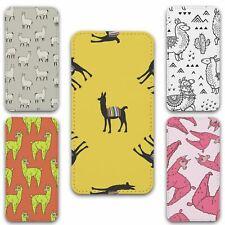 For iPhone XR Flip Case Cover Llama Set 4