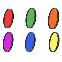 43mm Full Color Lens Filter For All 43mm lenses Red Purple Orange Yellow Blue