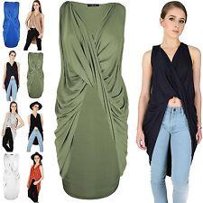 Unbranded V-Neck Sleeveless Wrap Dresses