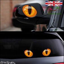 Chat yeux 1 Paire Stickers Voiture 3D Vinyle Autocollants Décor kawaii Creative Cats Eyes