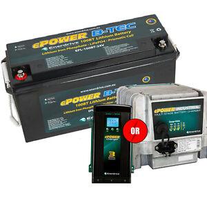 Enerdrive ePOWER B-TEC 24v 100aH Lithium Battery w/ FREE CHARGER OPTION
